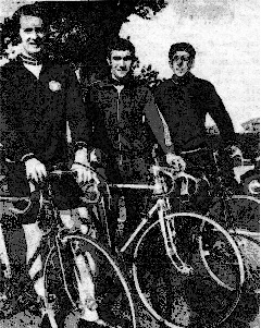 John Aston (1st), Malcolm Bradley (2nd) and Cliff Ash (3rd) – First ever SCCA Interclub 25, 1973